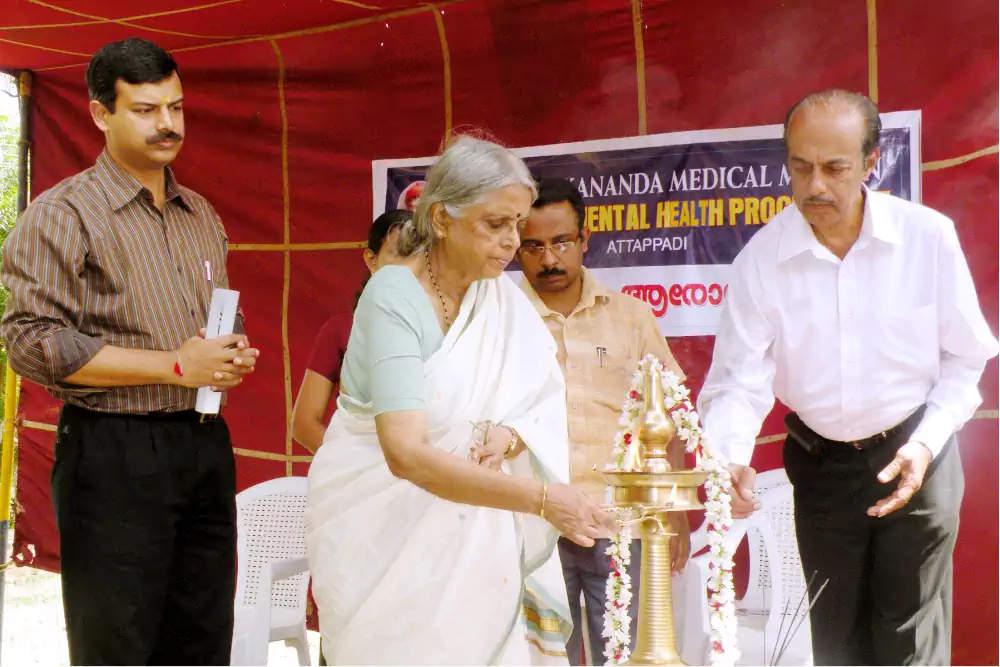 Prof.P.Sugathakumari inaugurating Community Mental Health Programme